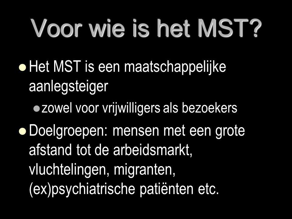 Voor wie is het MST Het MST is een maatschappelijke aanlegsteiger