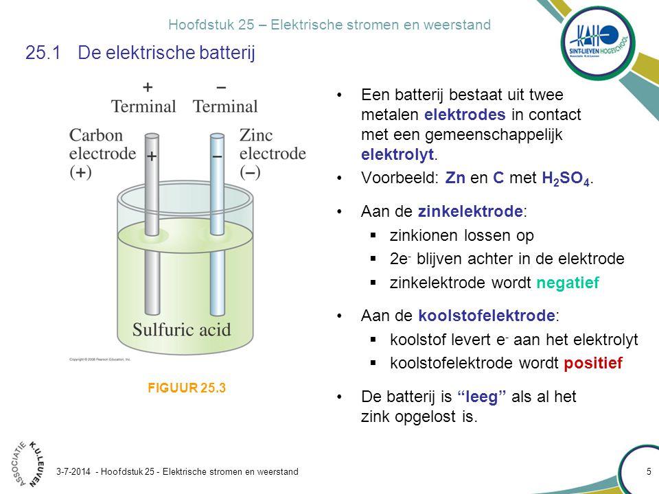25.1 De elektrische batterij