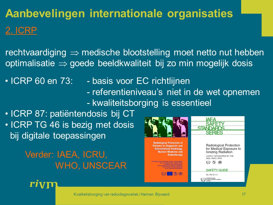 Aanbevelingen internationale organisaties