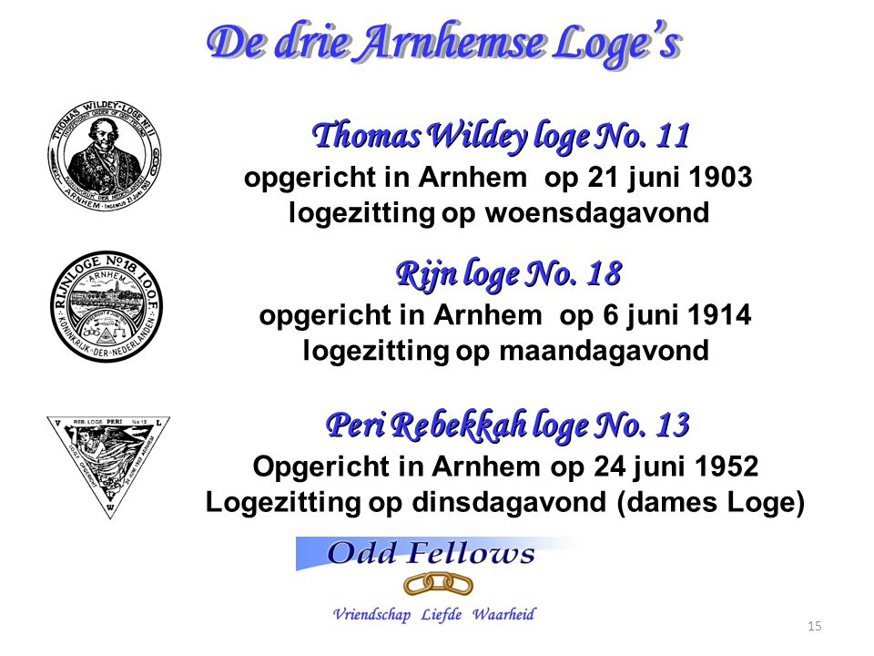 De drie Arnhemse Loge's