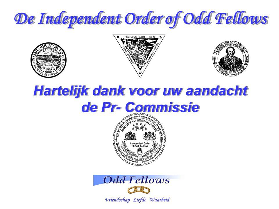 De Independent Order of Odd Fellows Hartelijk dank voor uw aandacht
