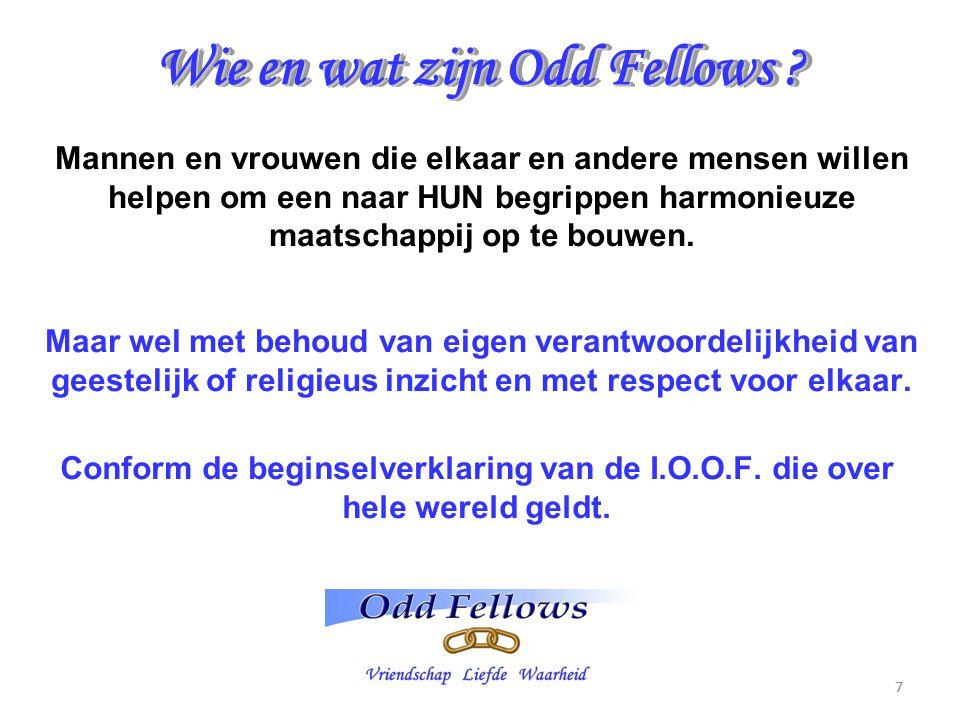 Wie en wat zijn Odd Fellows