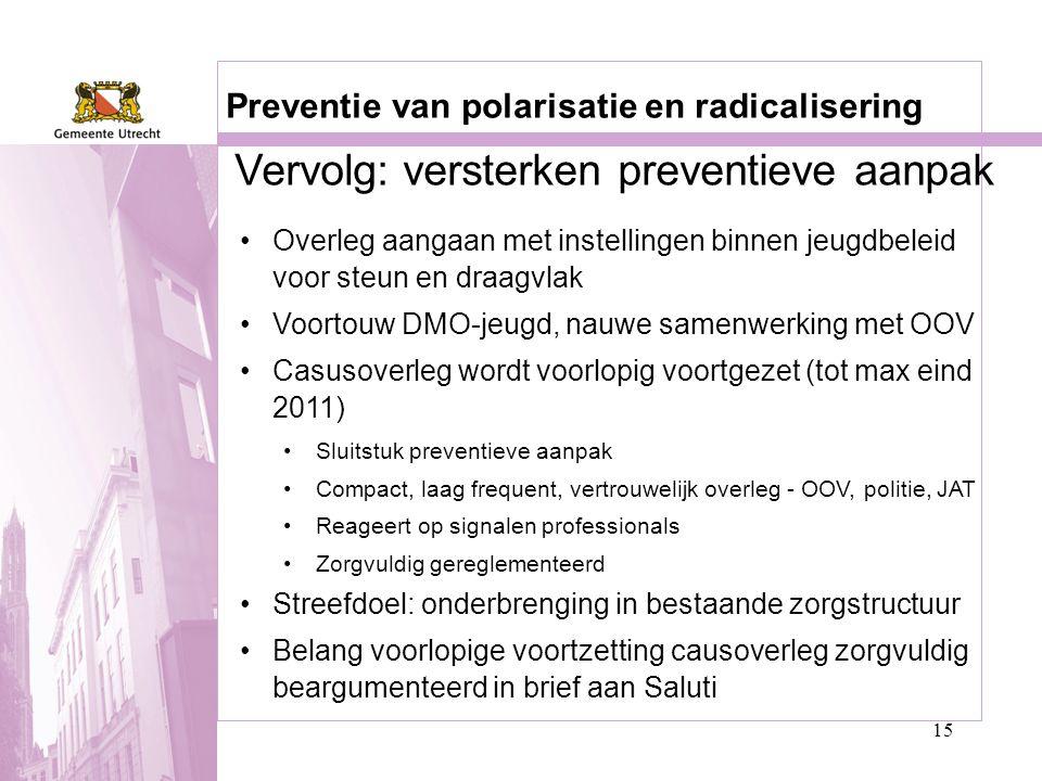 Vervolg: versterken preventieve aanpak