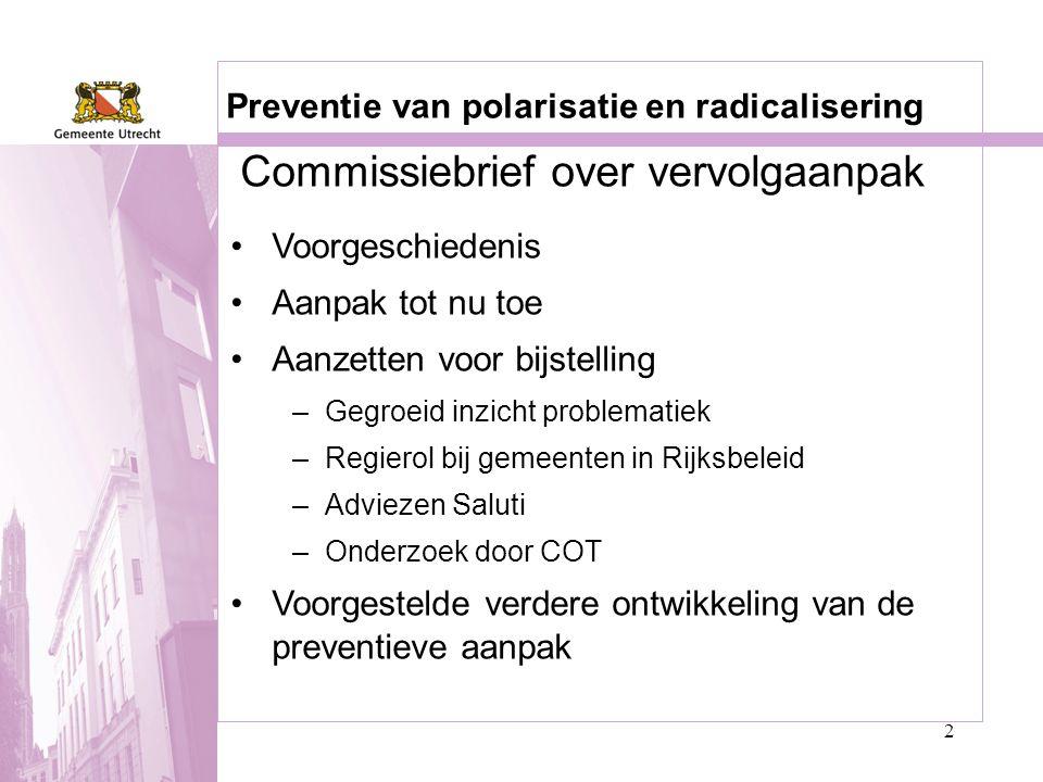 Commissiebrief over vervolgaanpak