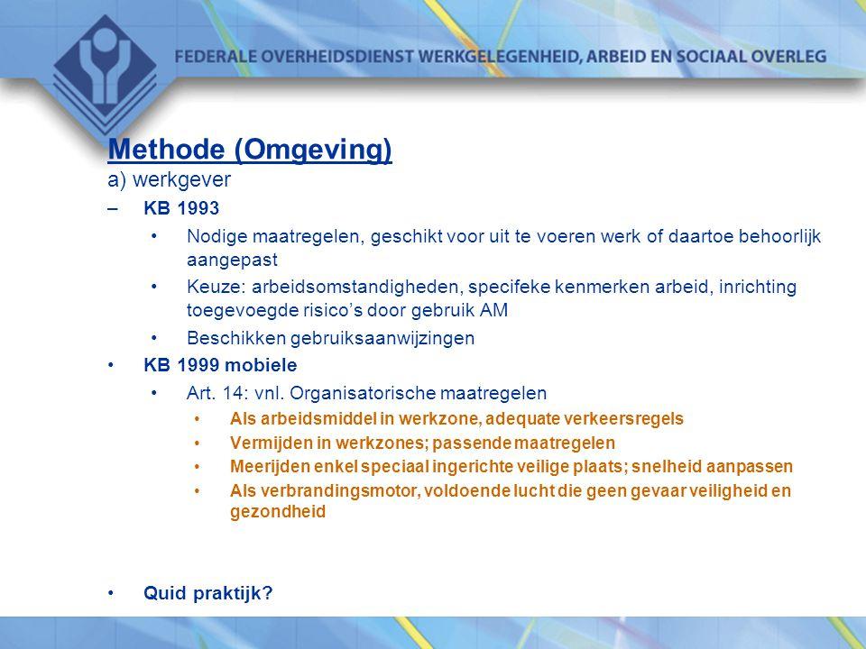Methode (Omgeving) a) werkgever KB 1993