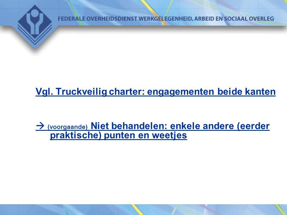 Vgl. Truckveilig charter: engagementen beide kanten
