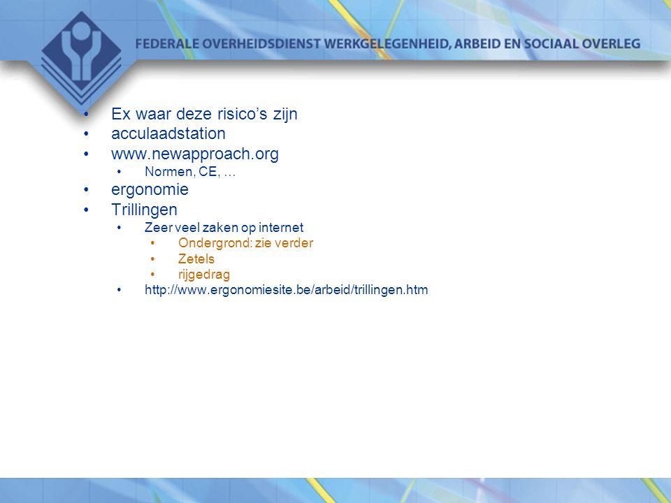 Ex waar deze risico's zijn acculaadstation www.newapproach.org