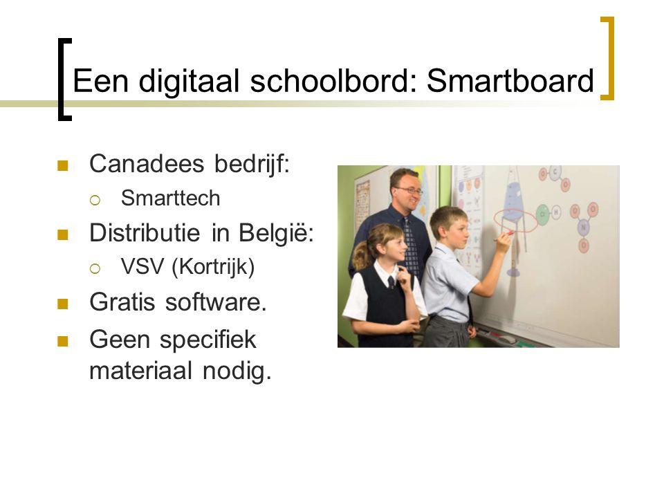 Een digitaal schoolbord: Smartboard