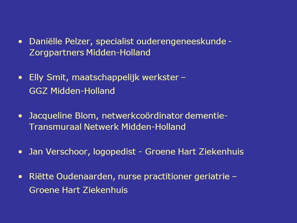 Daniëlle Pelzer, specialist ouderengeneeskunde - Zorgpartners Midden-Holland