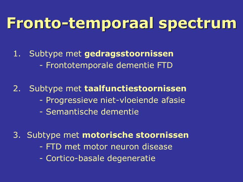 Fronto-temporaal spectrum