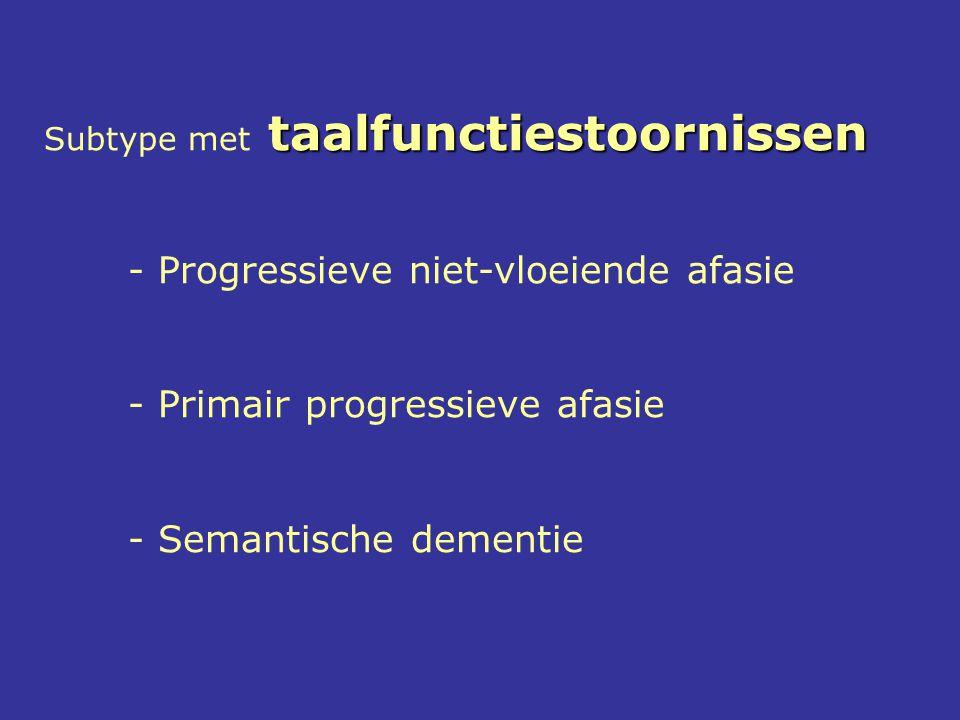 - Progressieve niet-vloeiende afasie