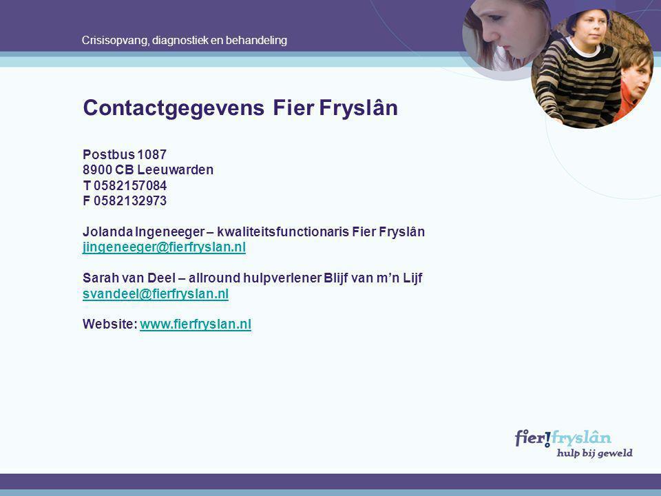 Contactgegevens Fier Fryslân