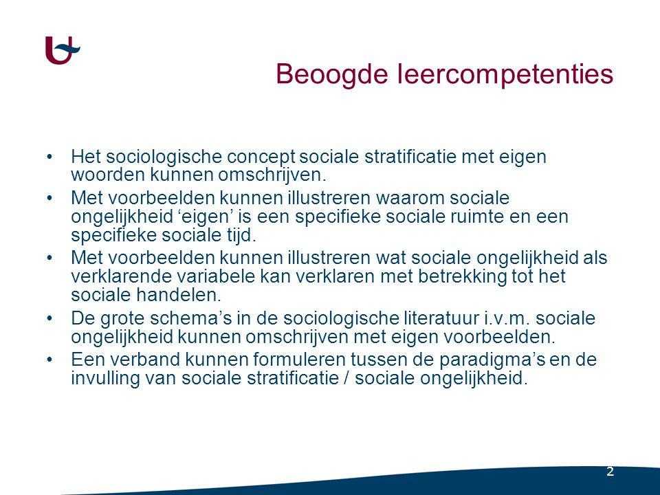 Twee typerende sociale relaties (Vranken, 2001)