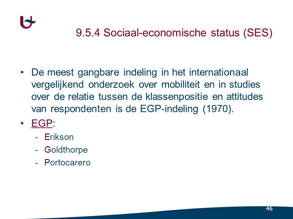 Het EGP-model uit 1979 (Bron: Erikson, Goldthorpe, Portocarero, 1979)