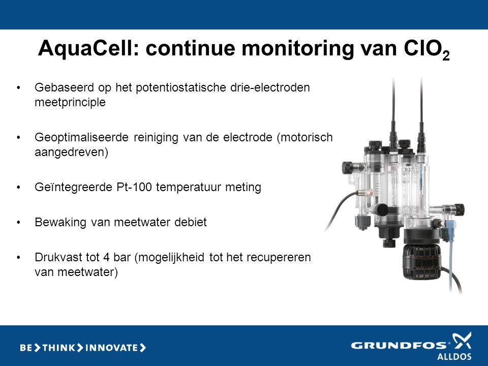 AquaCell: continue monitoring van ClO2