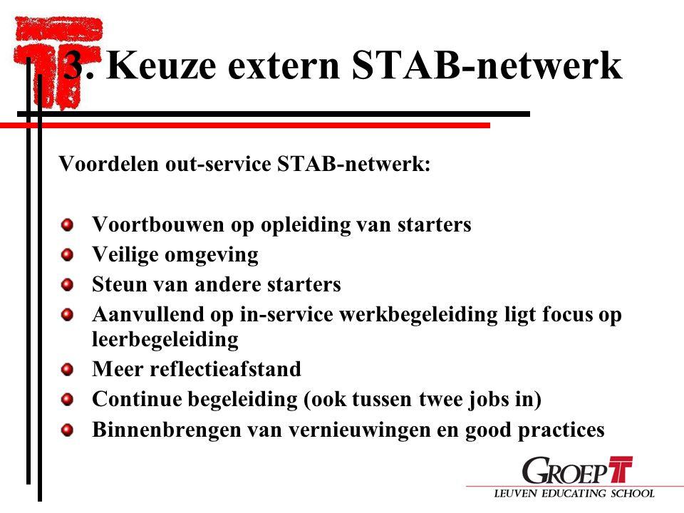 3. Keuze extern STAB-netwerk