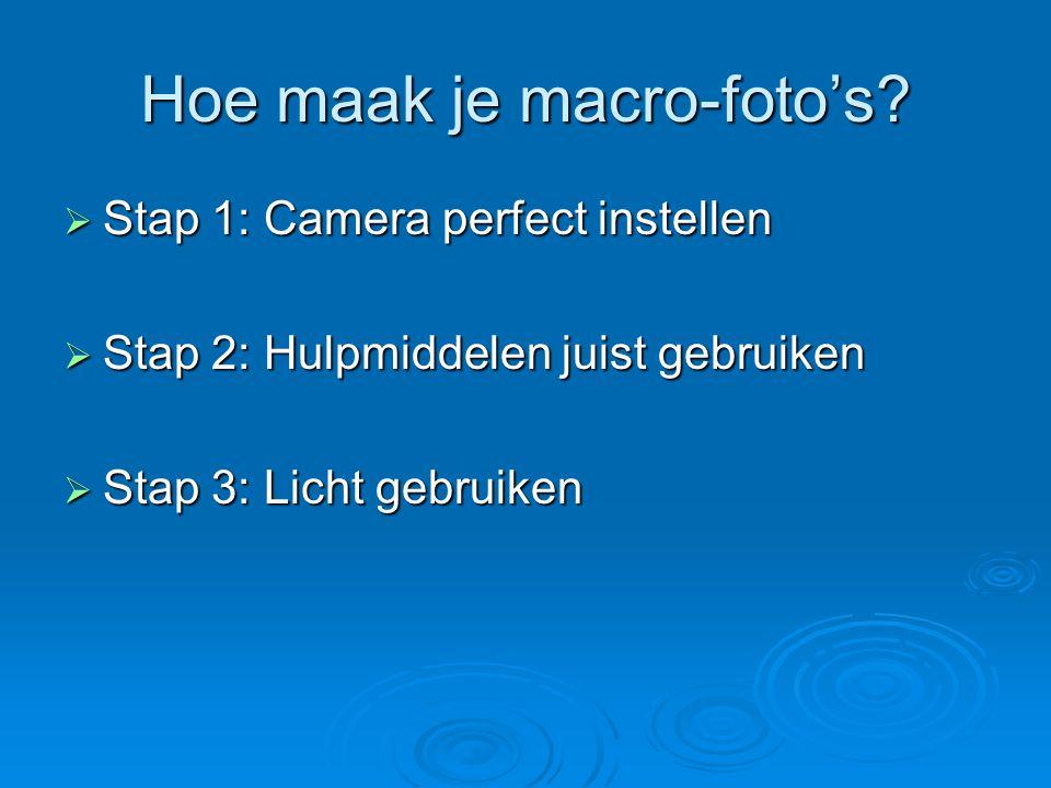 Hoe maak je macro-foto's