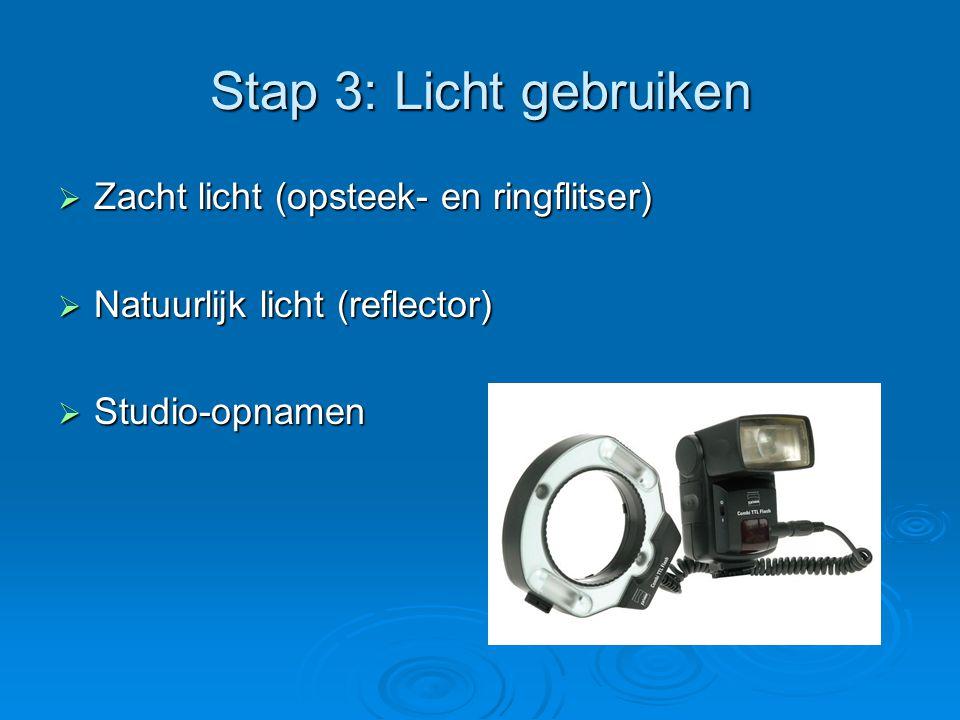 Stap 3: Licht gebruiken Zacht licht (opsteek- en ringflitser)