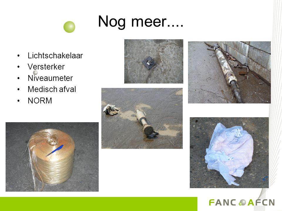 Nog meer.... Lichtschakelaar Versterker Niveaumeter Medisch afval NORM