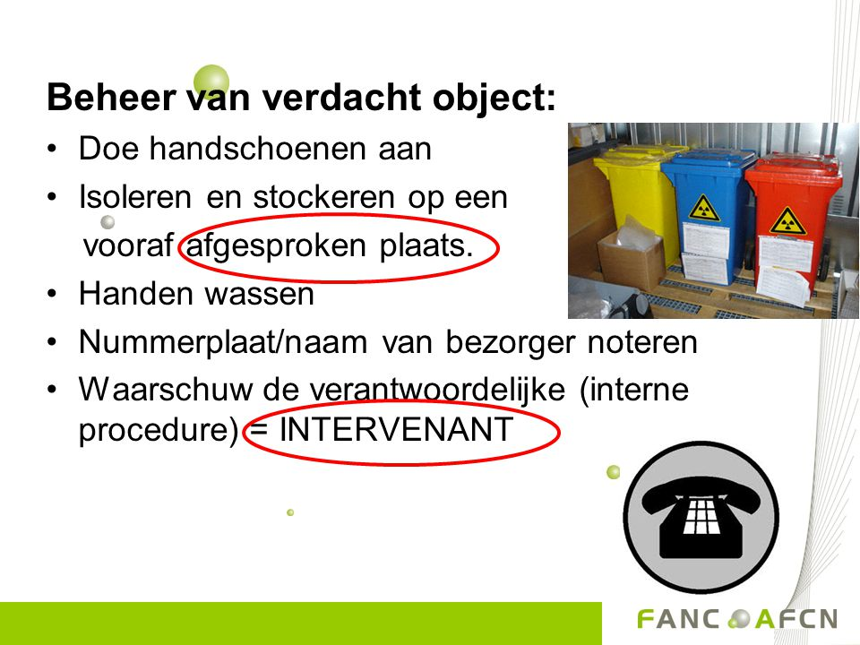 Beheer van verdacht object: