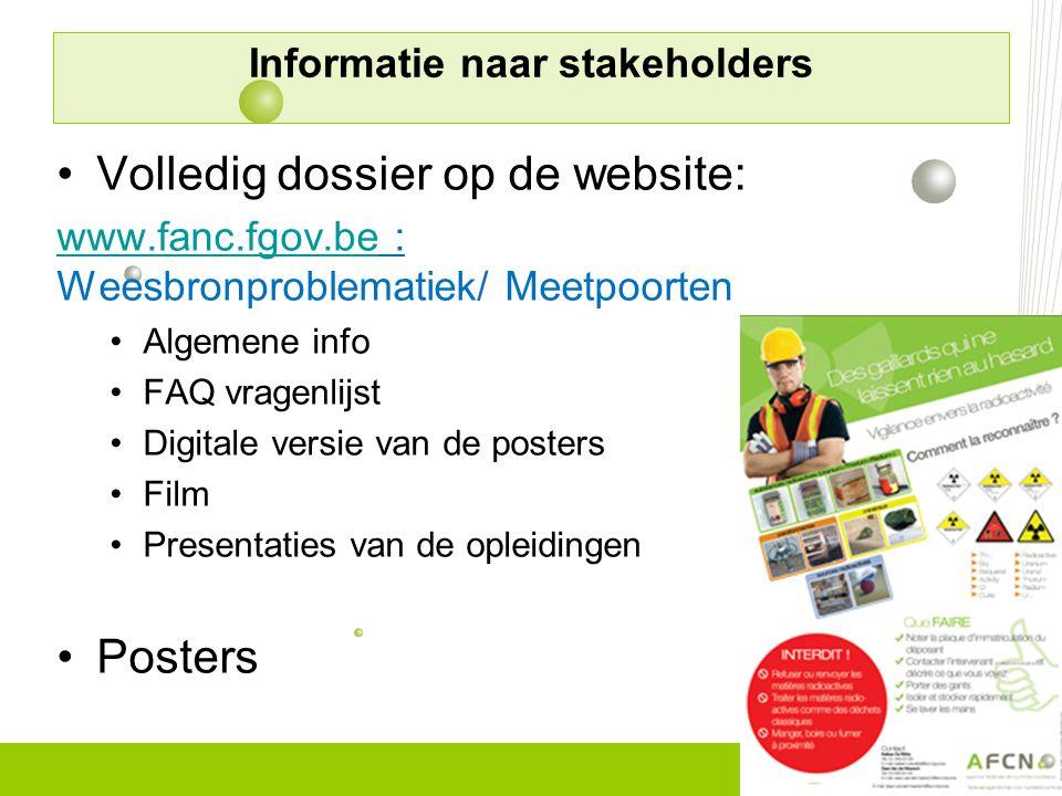 Informatie naar stakeholders