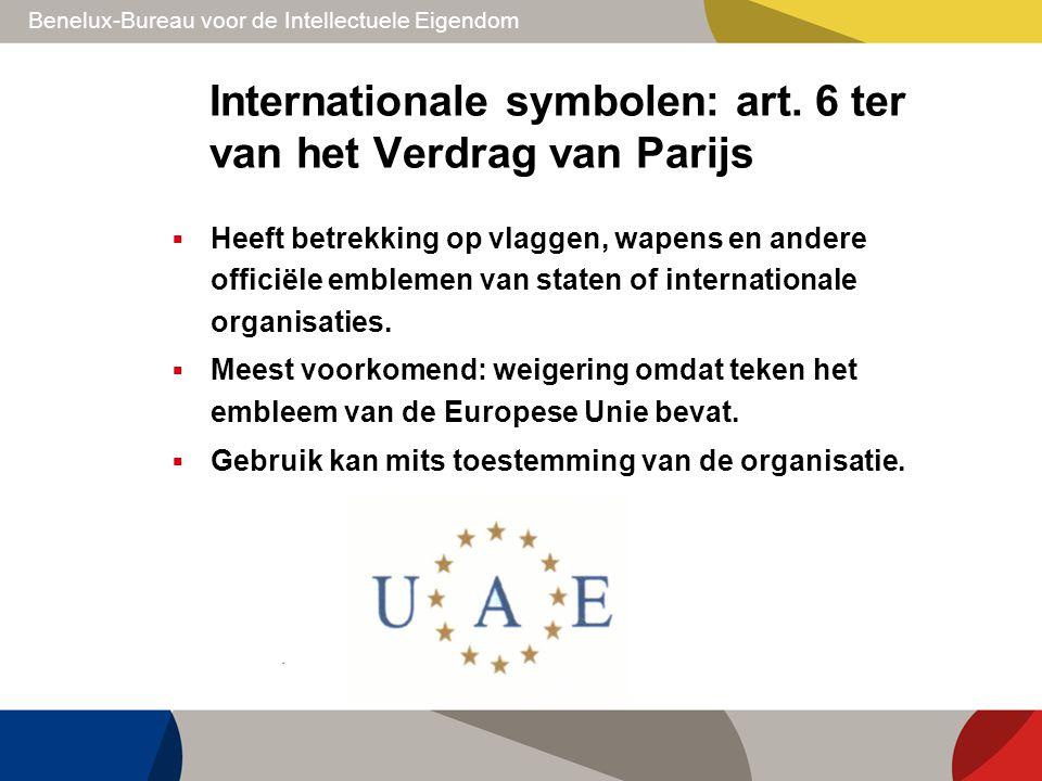Internationale symbolen: art. 6 ter van het Verdrag van Parijs