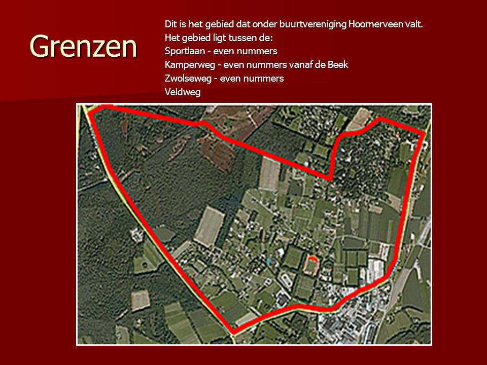 Grenzen Dit is het gebied dat onder buurtvereniging Hoornerveen valt.