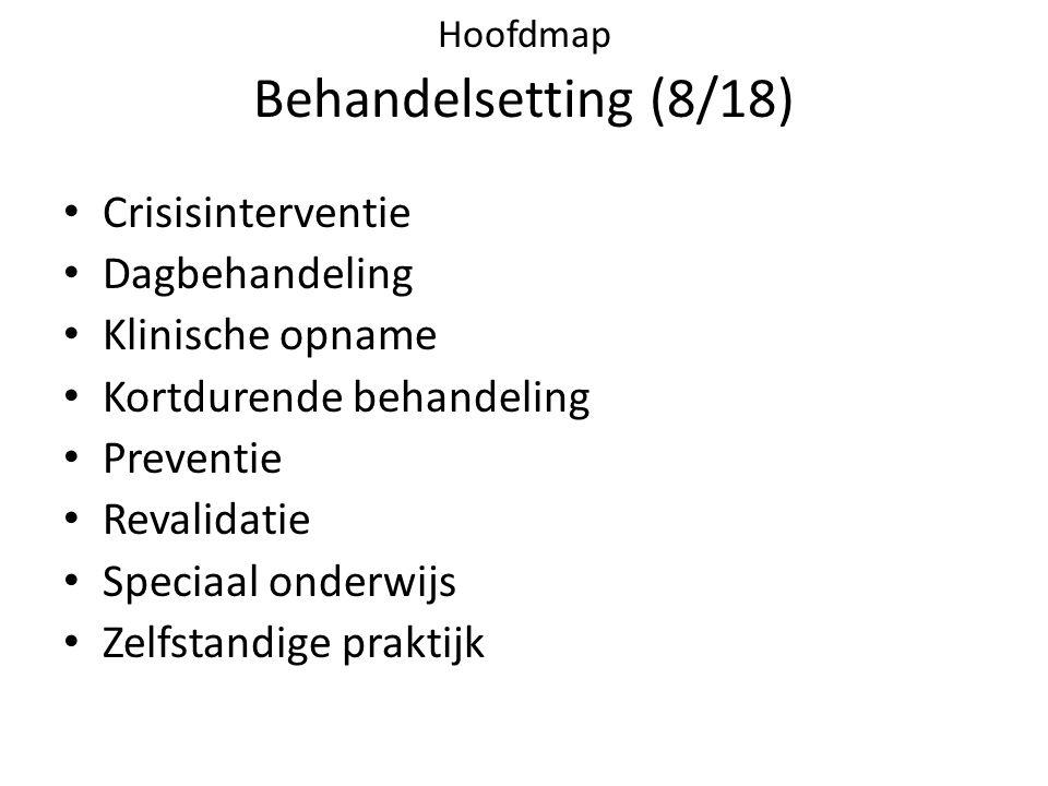 Hoofdmap Behandelsetting (8/18)