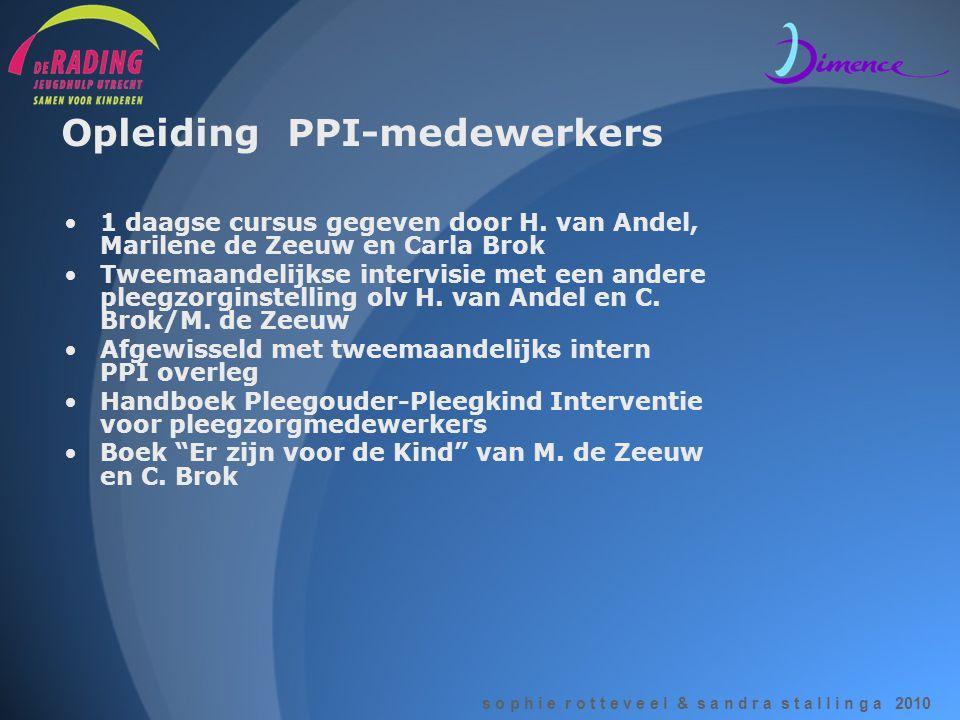 Opleiding PPI-medewerkers