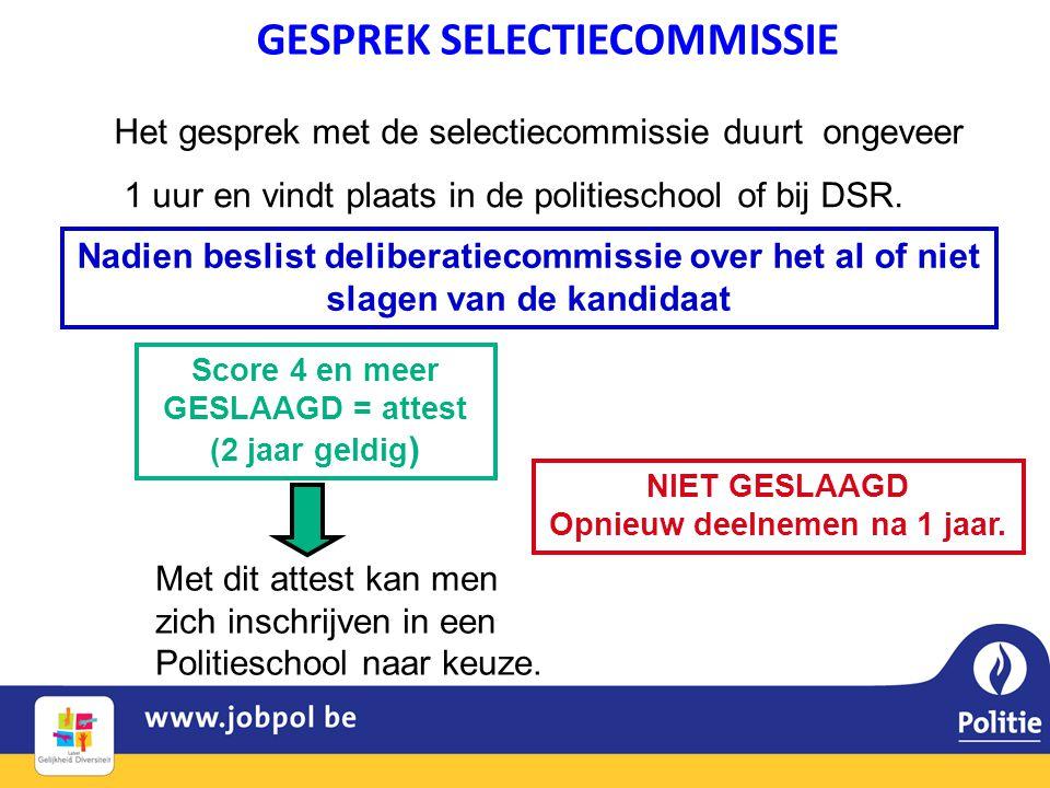 GESPREK SELECTIECOMMISSIE