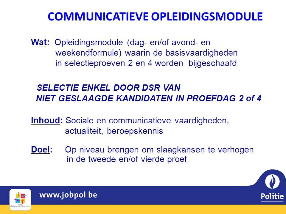 COMMUNICATIEVE OPLEIDINGSMODULE