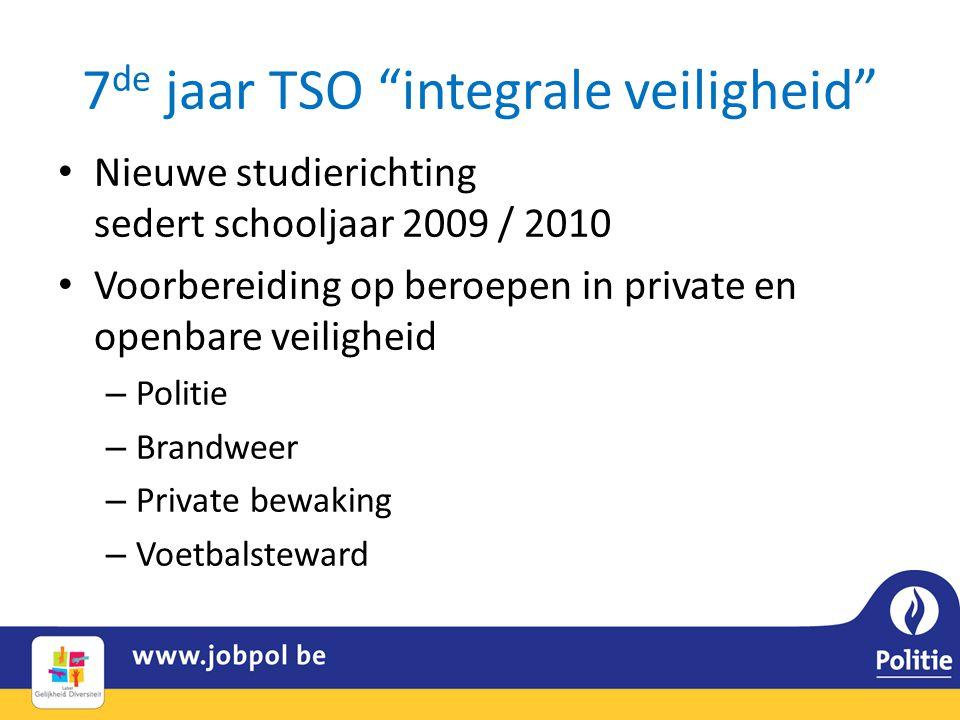 7de jaar TSO integrale veiligheid