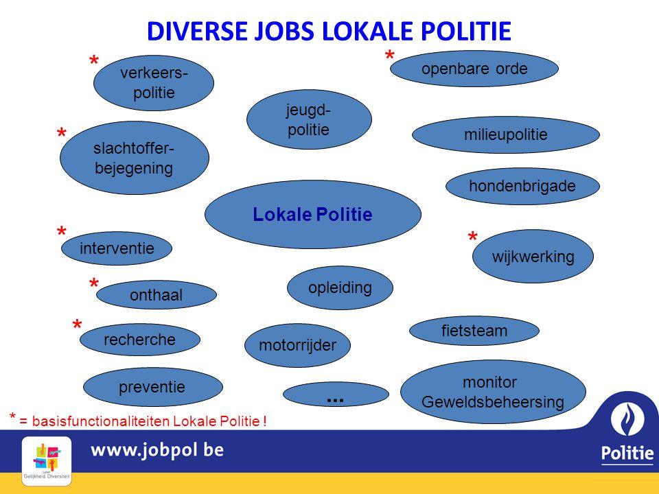 DIVERSE JOBS LOKALE POLITIE