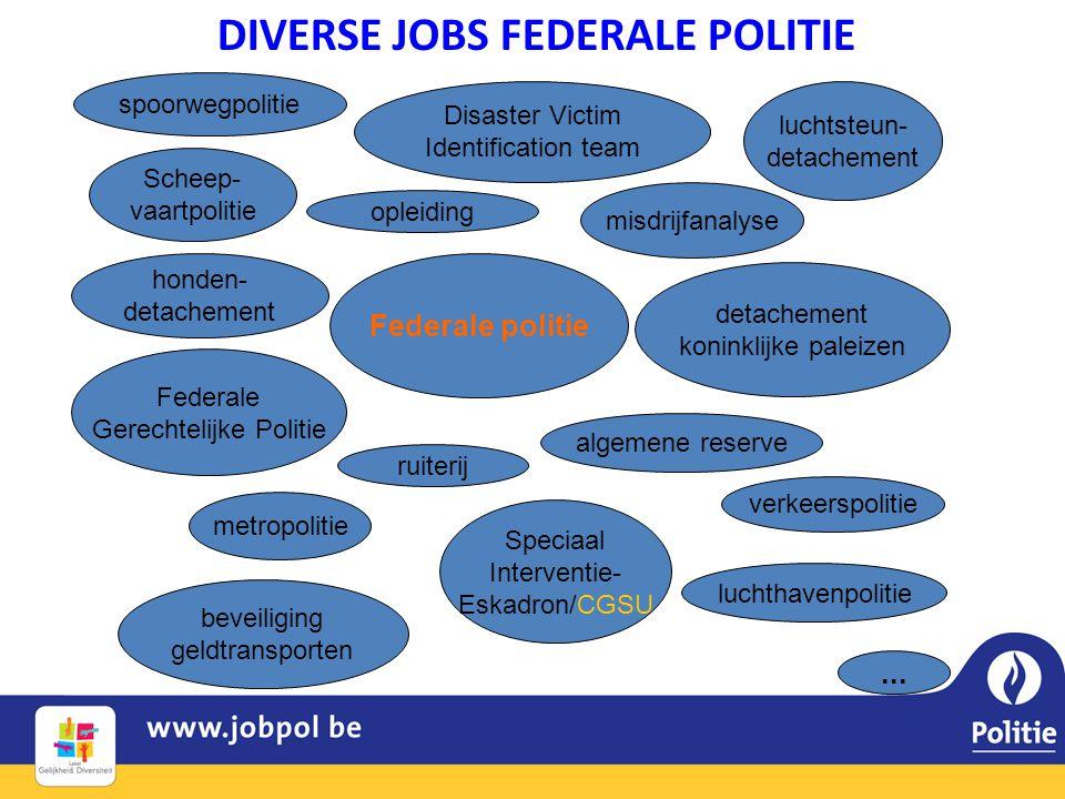 DIVERSE JOBS FEDERALE POLITIE