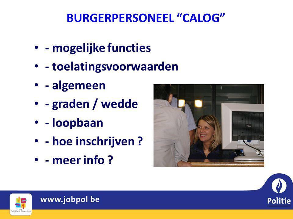 BURGERPERSONEEL CALOG