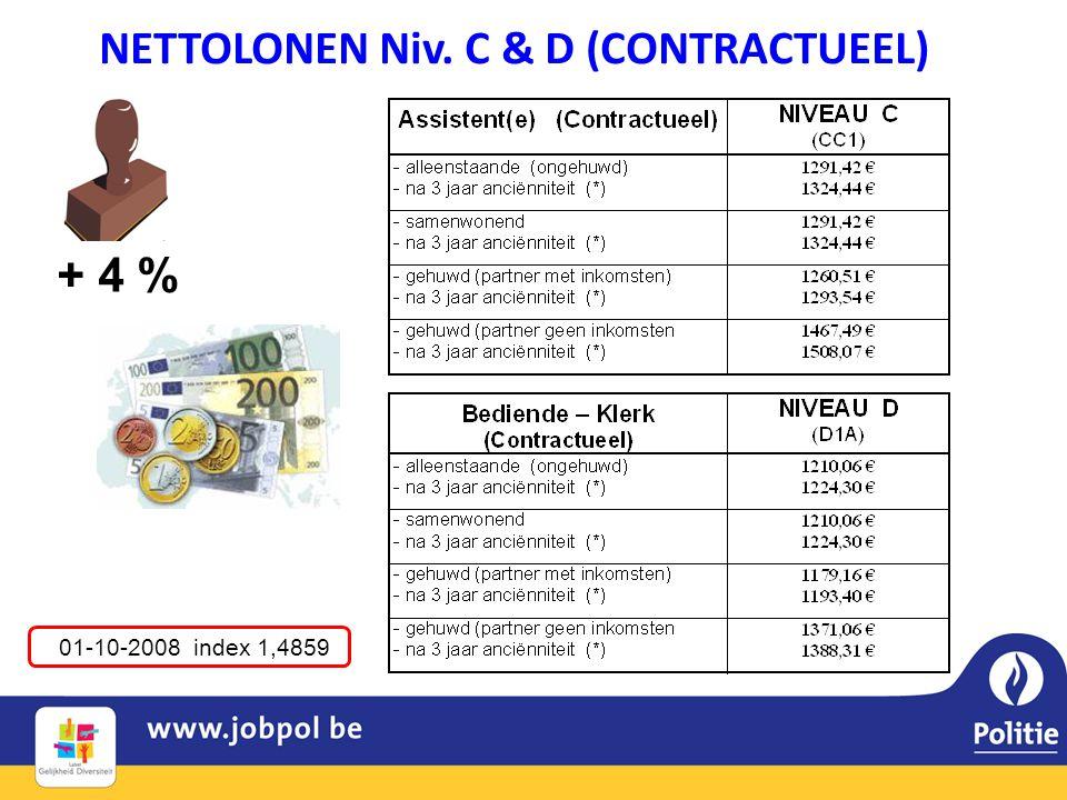 NETTOLONEN Niv. C & D (CONTRACTUEEL)