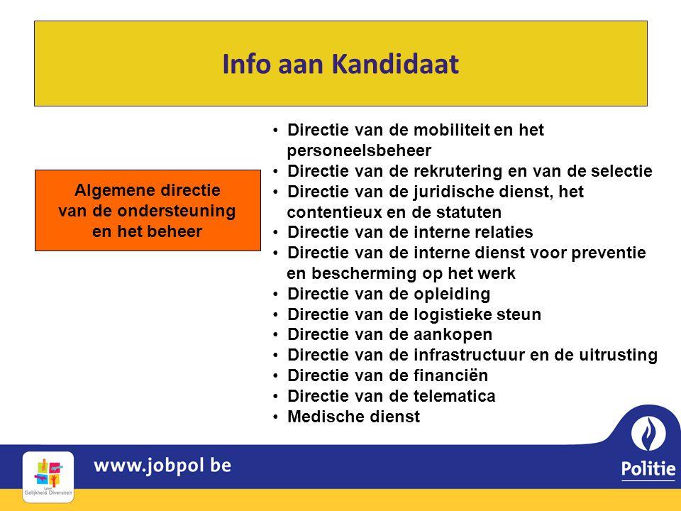 Algemene directie van de ondersteuning en het beheer