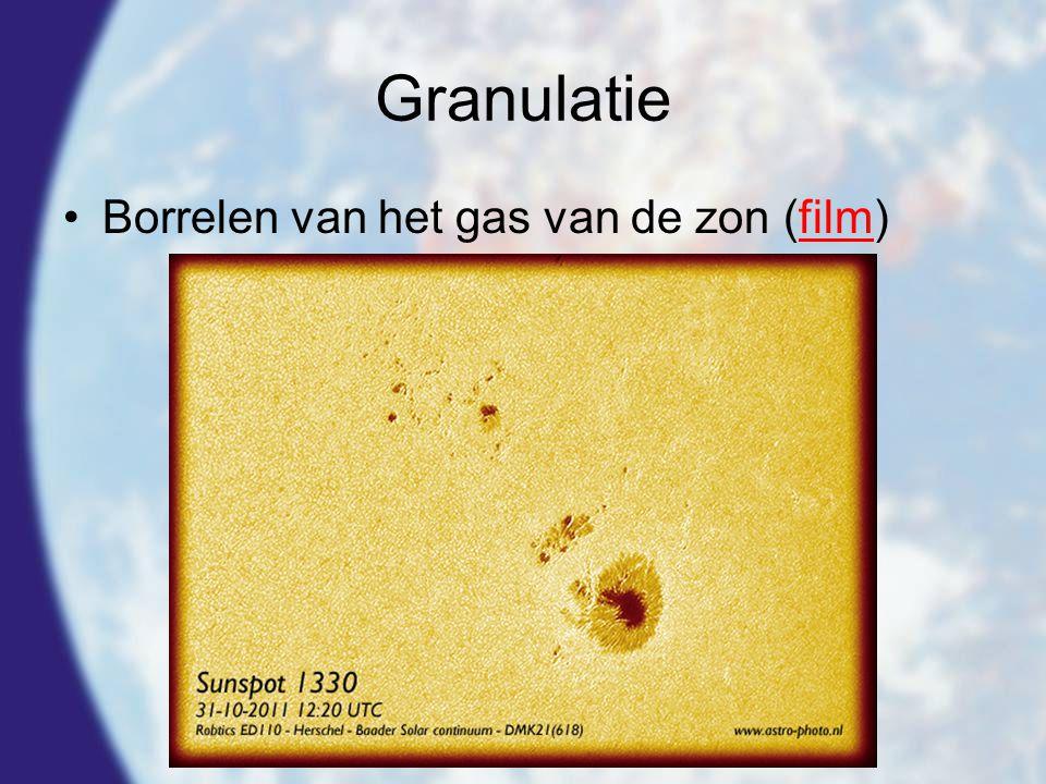Granulatie Borrelen van het gas van de zon (film)
