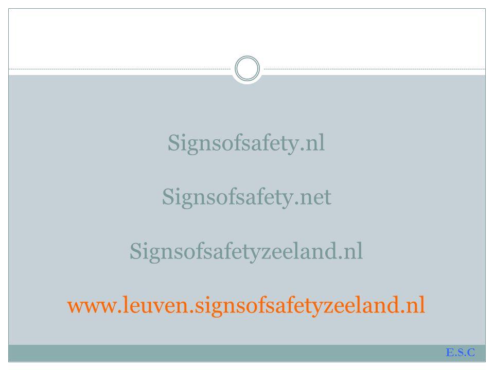 Signsofsafety. nl Signsofsafety. net Signsofsafetyzeeland. nl www
