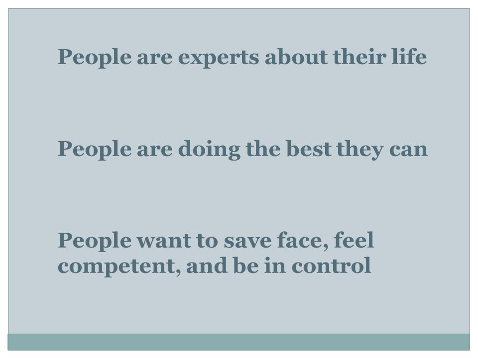 People are experts about their life