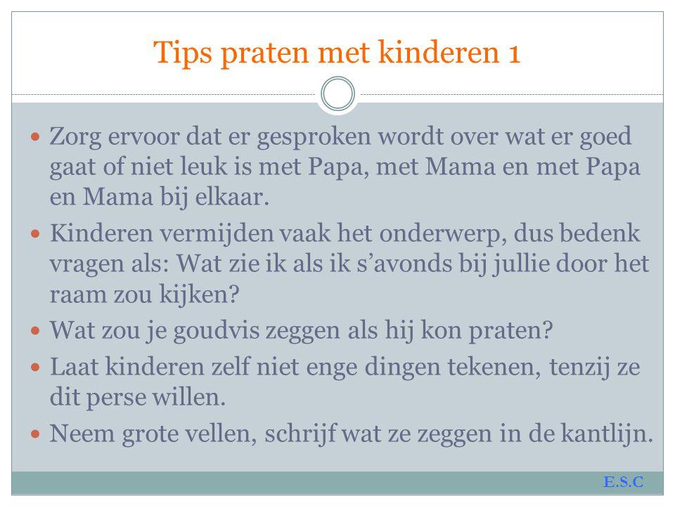 Tips praten met kinderen 1