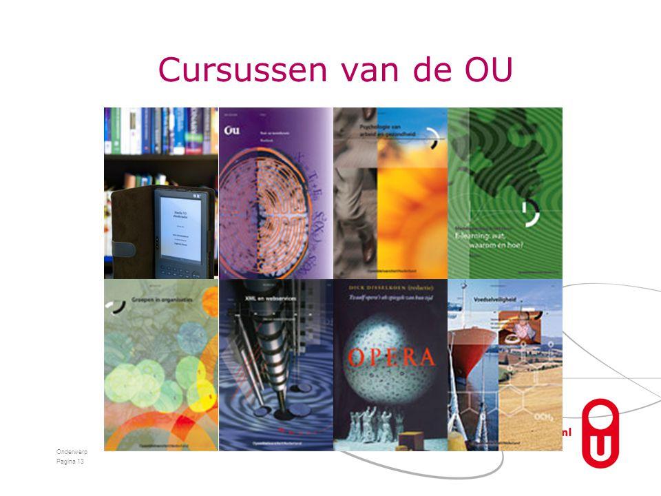 Cursussen van de OU Onderwerp Pagina 13
