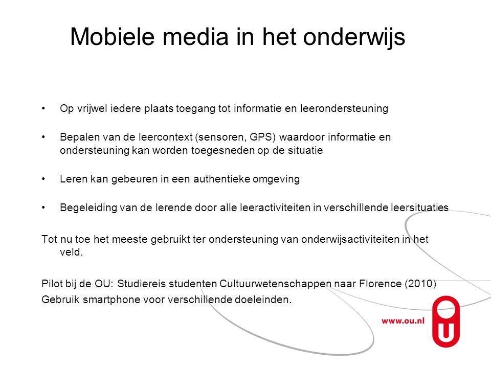 Mobiele media in het onderwijs