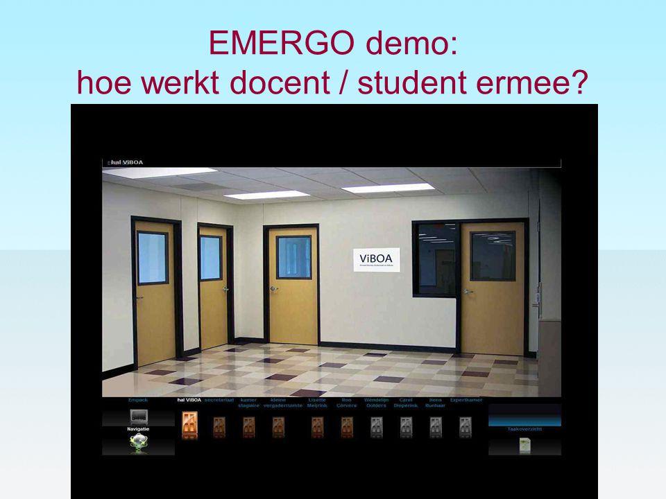 EMERGO demo: hoe werkt docent / student ermee