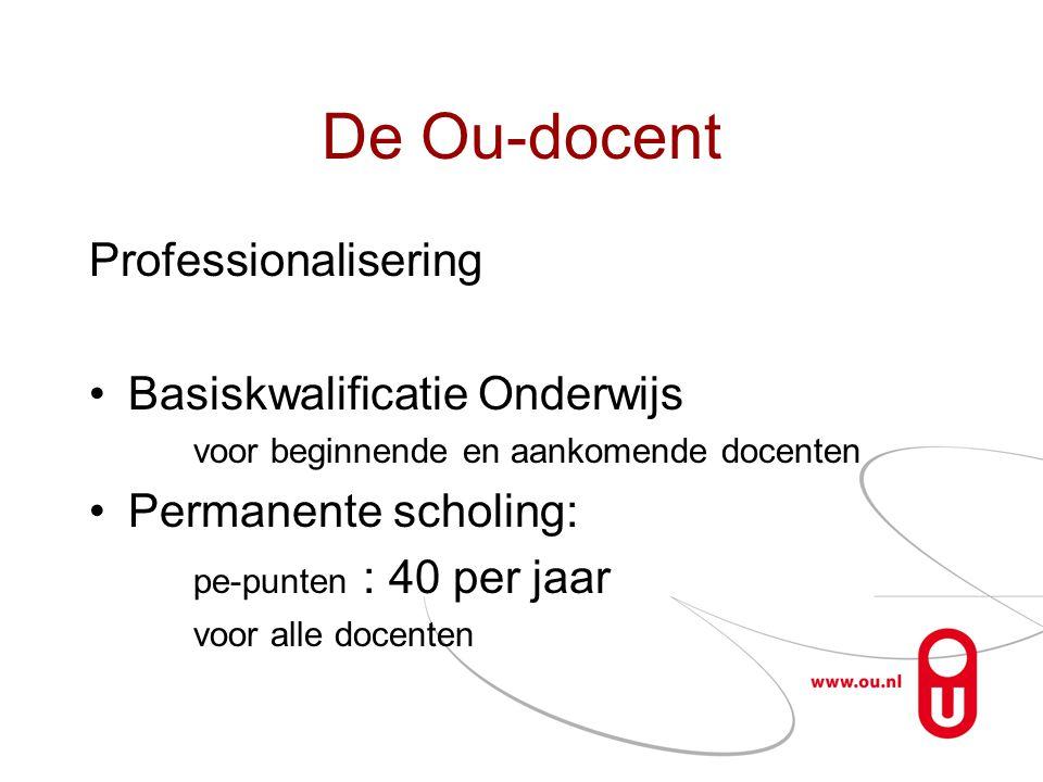 De Ou-docent Professionalisering Basiskwalificatie Onderwijs
