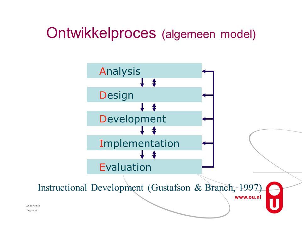 Ontwikkelproces (algemeen model)