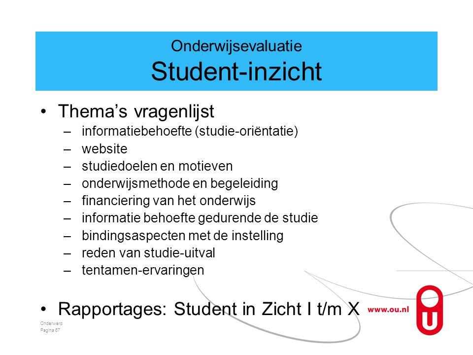 Onderwijsevaluatie Student-inzicht