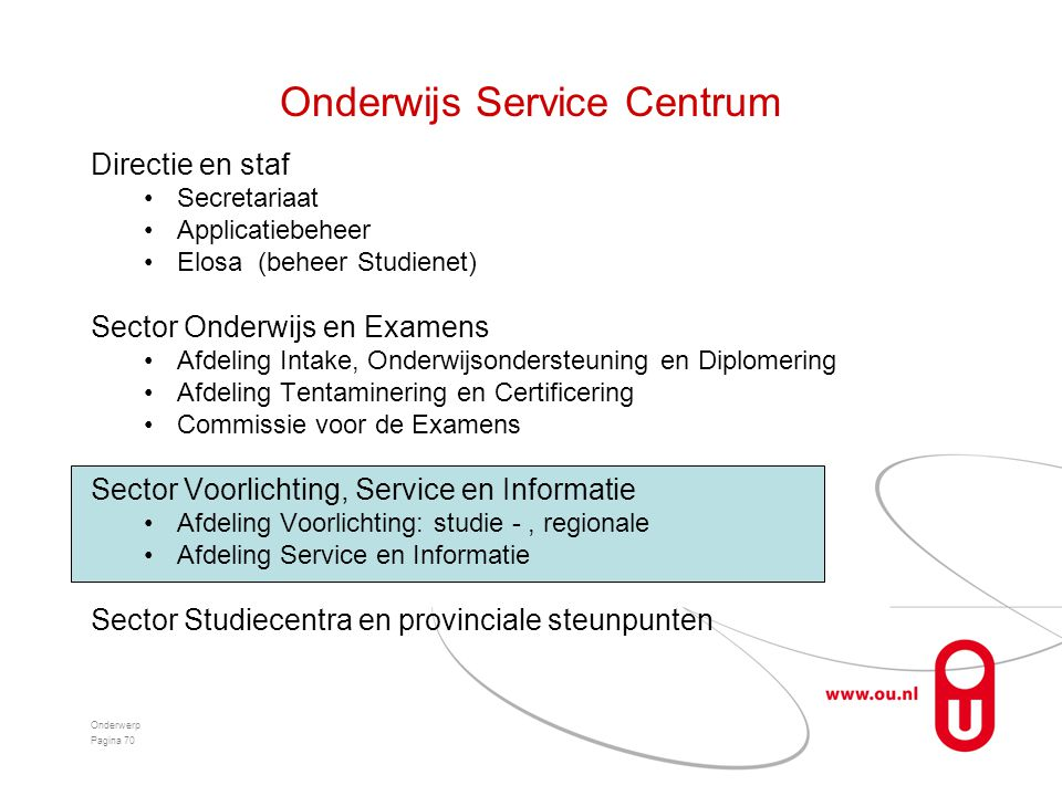 Onderwijs Service Centrum