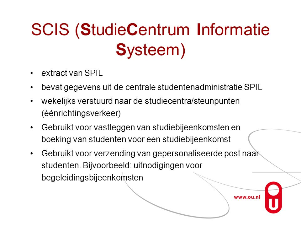 SCIS (StudieCentrum Informatie Systeem)