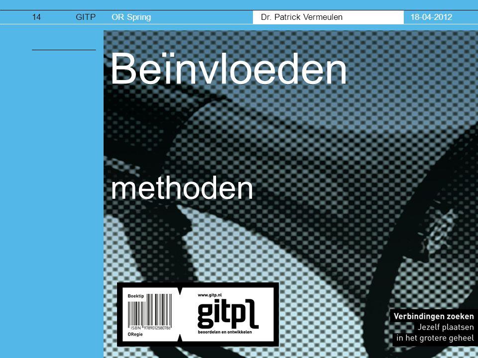 18-04-2012 Beïnvloeden methoden